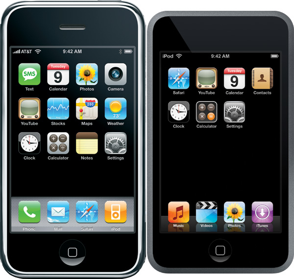 ipod touch e iphone