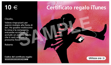certificati iTunes