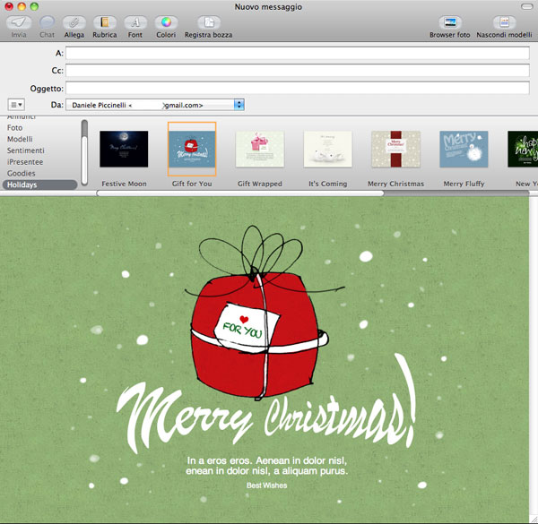 Biglietti Di Natale Modelli.Auguri Con Il Mac Scrivili Con I Temi Di Natale Gratuiti Per Mail