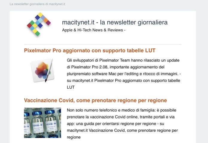 La Newsletter di MacityNet: nuove modalità di iscrizione.