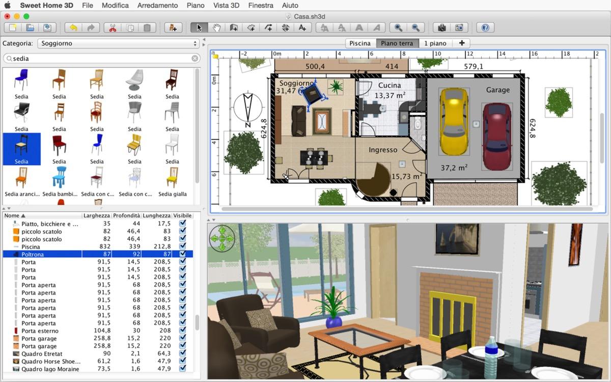 Progettazione Casa 3d : Sweet home d la progettazione di interni dal mac macitynet