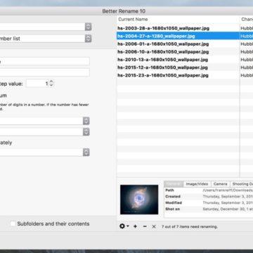 Better Finder Rename, cambiare nome ai file facilmente e automaticamente