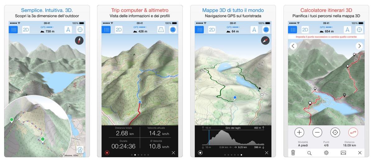 Strade, sentieri e piste da sci senza segreti su iPhone con Maps 3D