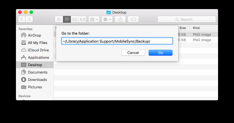 Spostare il backup di iPhone e iPad su un disco esterno