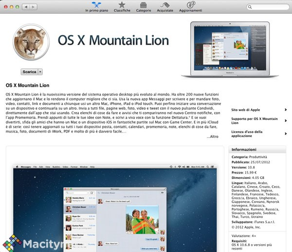 Che cosa fare se non riuscite a scaricare Mountain Lion con il Wi-Fi dall'€™App Store