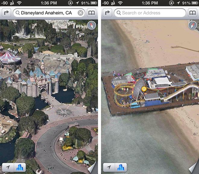 Mappe per iOS, nuove città californiane nella modalità Flyover