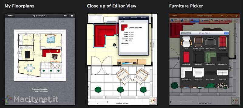 Floorplans crea e modifica planimetrie per progettare una for Planimetrie con stanze segrete