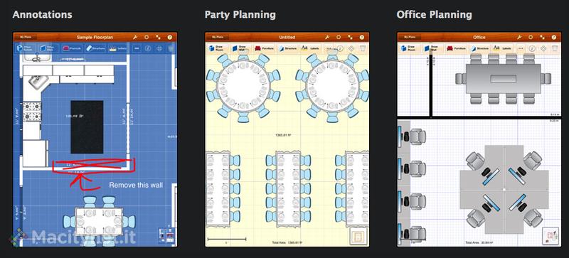 Floorplans crea e modifica planimetrie per progettare una for Software per planimetrie