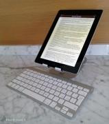 ... utilizzata con iPad in verticale alla distanza e angolazione da noi preferita.
