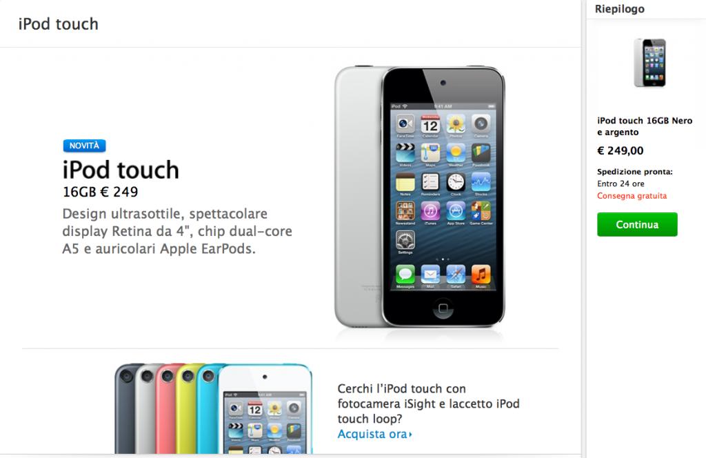 nuovo iPod touch economico