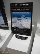 La visione stereoscopica 3D avviene grazie 3D agli occhialini con tecnolgia Olympus