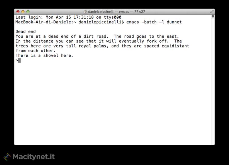 Terminale di OS X: 4 giochi d'altri tempi nascosti in Emacs