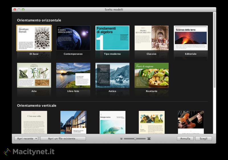 Uno sguardo a iBook Authors 2.0