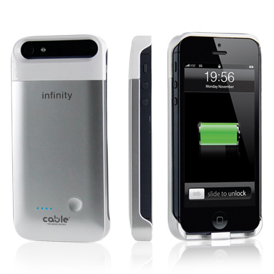 Infinity battery case iPhone 5 cable