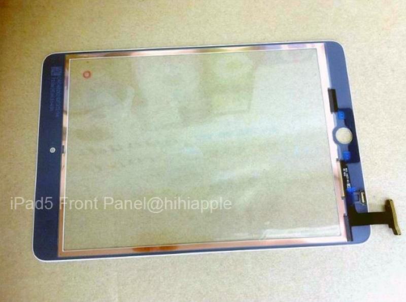 Nuovo iPad 5: la foto del pannello frontale conferma il design stile iPad mini