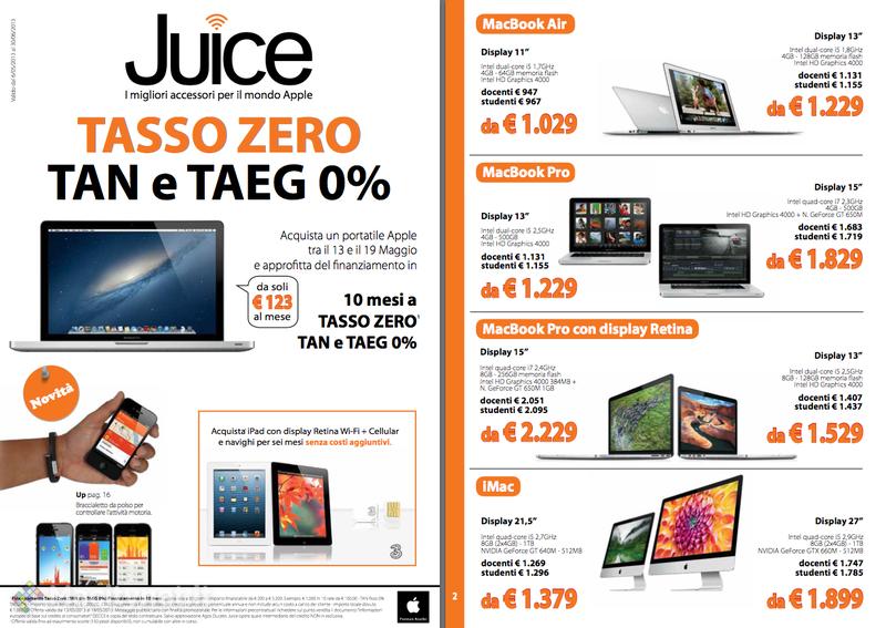 Juice: Tasso Zero per portatili e iPad, permuta del vecchio Mac, ripartono i corsi gratuiti