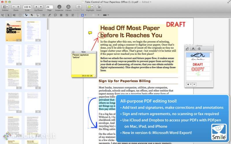 PDFPen e PDFPen Pro editare documenti PDF, ora in nuova versione