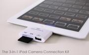 Connettore iPad 3-in-1 per fotocamere e schede memoria: 14 euro spedizione inclusa