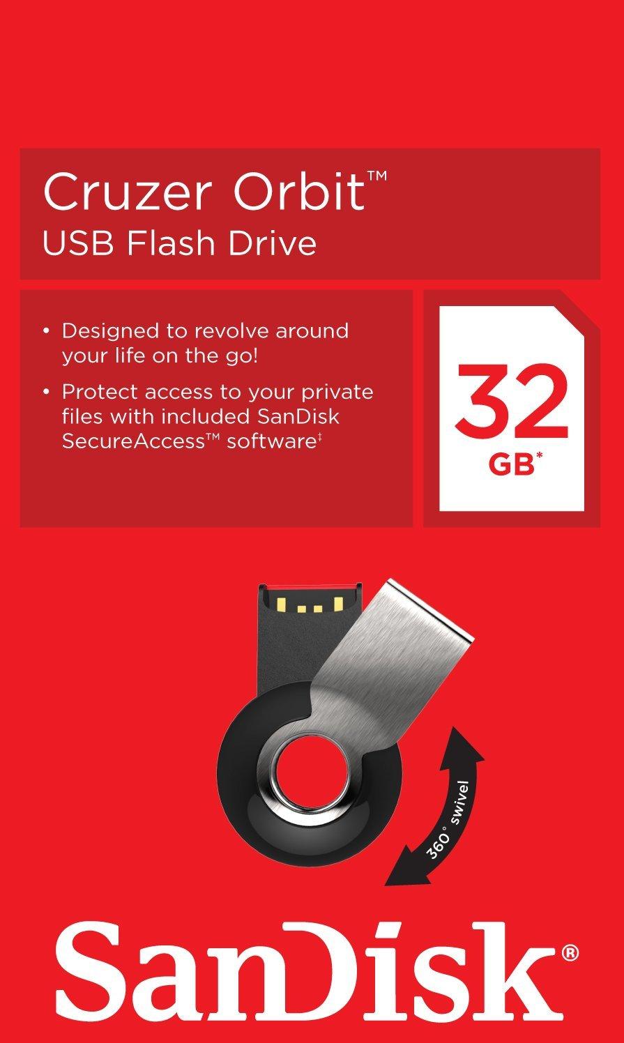 SanDisk Cruzer Orbit La Chiavetta USB Circolare Da 32 GB