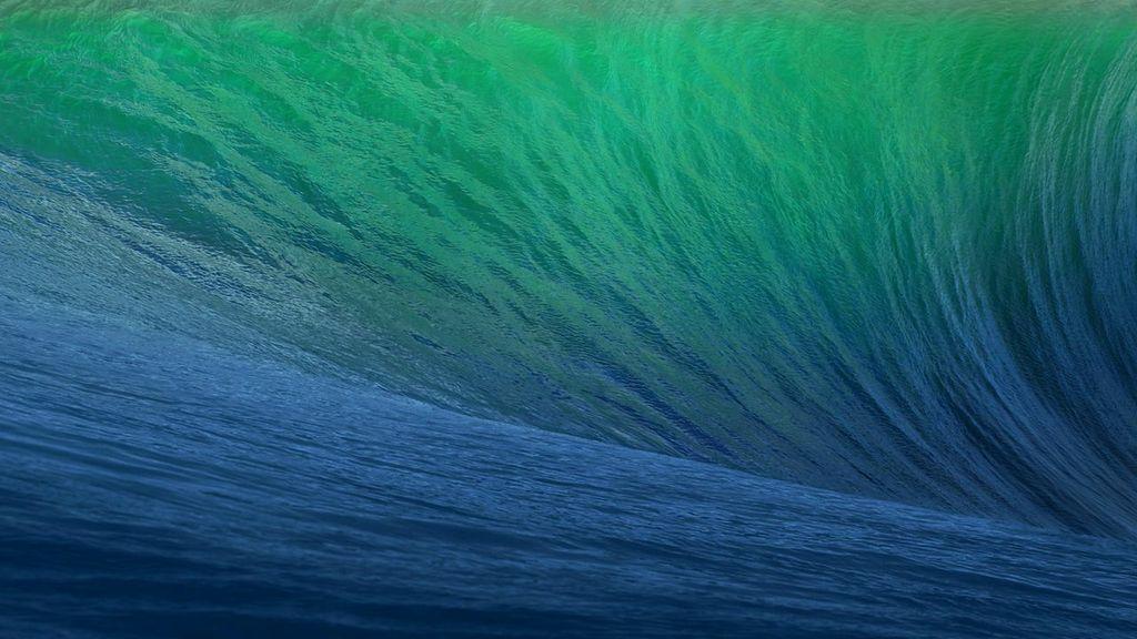 Sfondo di default di OS X 10.9 Mavericks