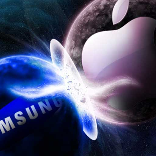 Samsung vs apple icona