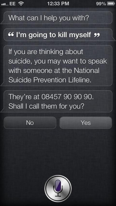 Siri suicidio