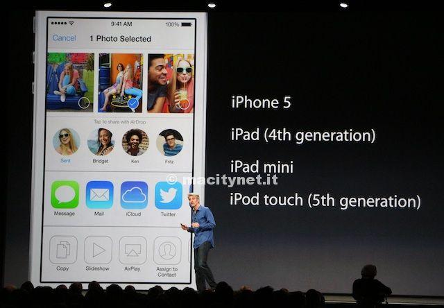 interfaccia iOS 7