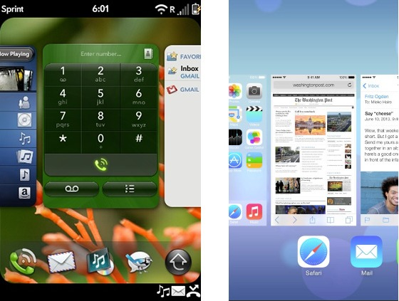 ios 7 webOS multitasking