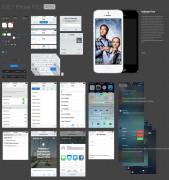 iOS 7: tutti i pulsanti e gli elementi grafici disponibili in un file PSD
