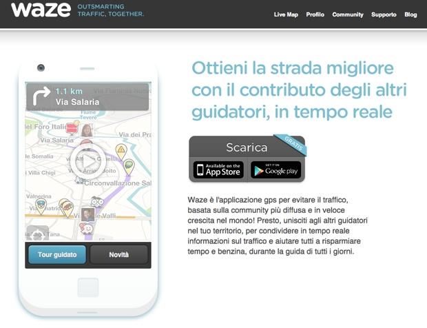 waze sito web