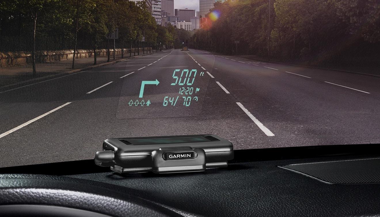 Garmin HUD, accessorio iPhone per l'auto come un caccia militare