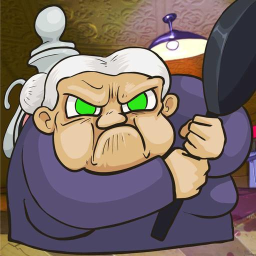 Grandma Defends Kitchen, combatti con la super nonna e la sua fedelissima padella