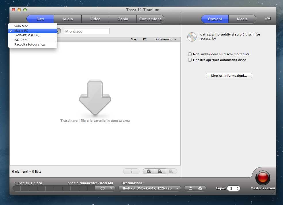 Masterizzare con Mac