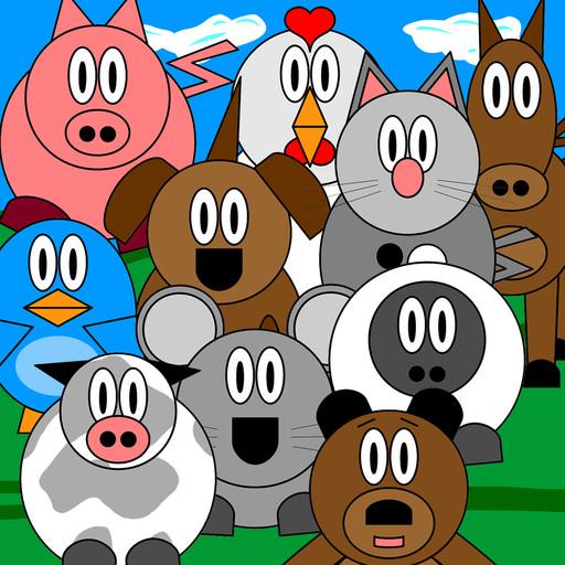 Impara i versi degli animali con un tap con Bambini ed animali per iPad