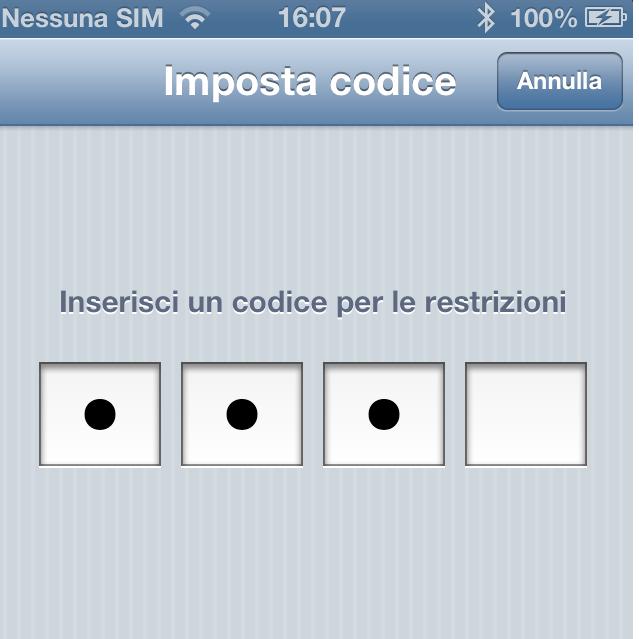 restrizioni iPhone