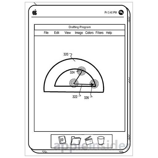 Brevetto Apple per interfaccia Cad su dispositivi mobili