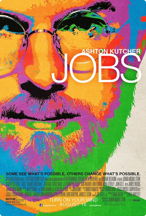 Film su Steve Jobs con Ashton Kutcher, locandina psichedelica e in stile iOS 7