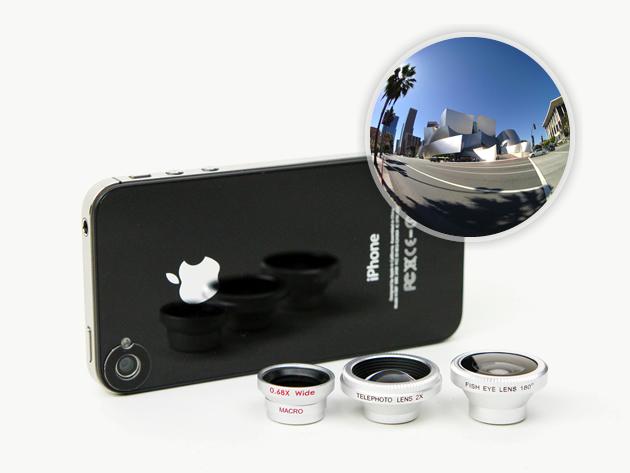 kit di lenti 3 in 1 per iPhone