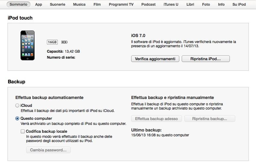 come disinstallare iOS 7 per tornare a iOS 6