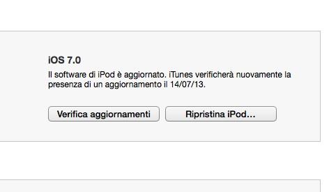 disinstalla iOS 7
