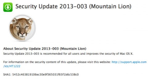 Security Update 2013-003