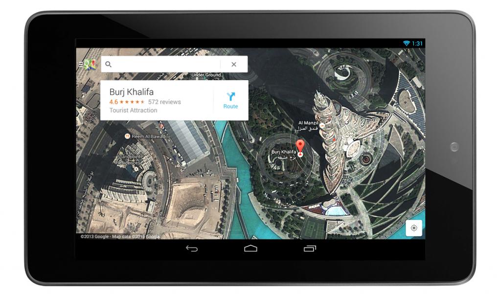 Google maps per iPad