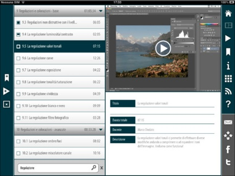 Su iPad il Video corso Photoshop CS6 Italiano di Teacher in a Box