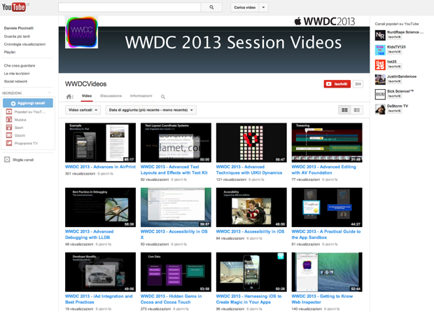 WWDC su YouTube