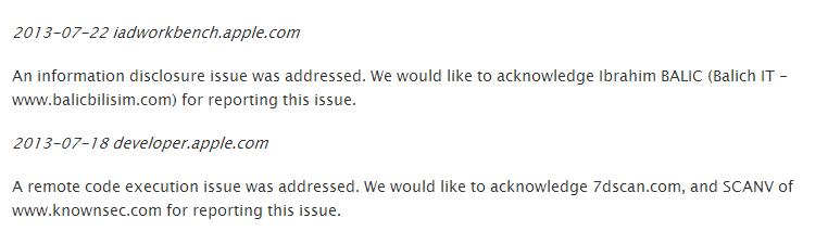 Apple Web Server Notifications