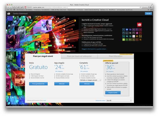 abbonamenti Adobe Creative Cloud