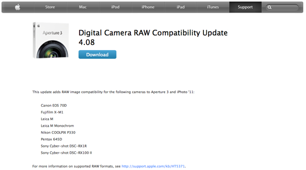 Digital Camera RAW Compatibility 4.08