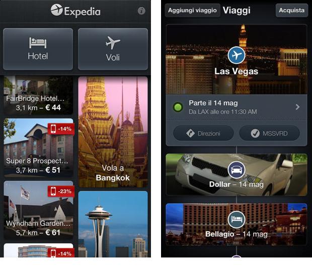 Expedia regala app