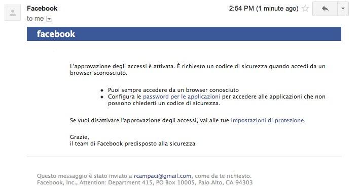 Tutorial doppio fattore di autenticazione su facebook
