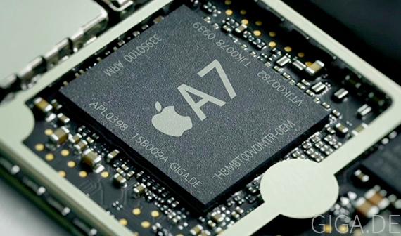 Apple A7, più veloce del 31% e affiancato da chip per motion tracking